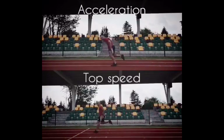 Przyspieszenie vs prędkość maksymalna